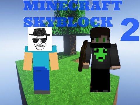 MineCraft - SkyBlock # 2 - Yay Mod, Killing David, Walter White IS Francis?!?!