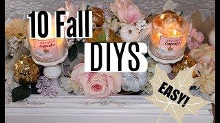 🍁2018 Fall DIY & Decor Challenge / 10 FALL DECOR DIYS / ep. 14🍁