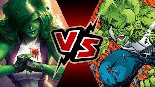 She-Hulk VS Savage Dragon   BATTLE ARENA