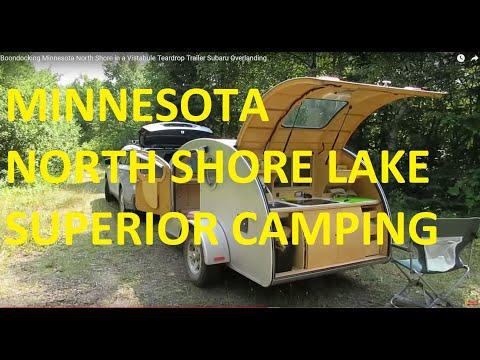 Boondocking Minnesota North Shore in a Vistabule Teardrop Trailer