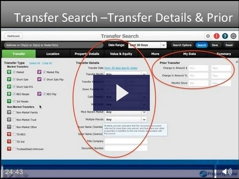 PropertyRadar - How to use Transfer Search, See ALL California Real Estate Transactions