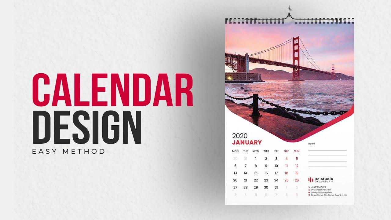 Calendar Design 15  How to Make Calendar In Illustrator Tutorial   Create Wall Calendar  #MH