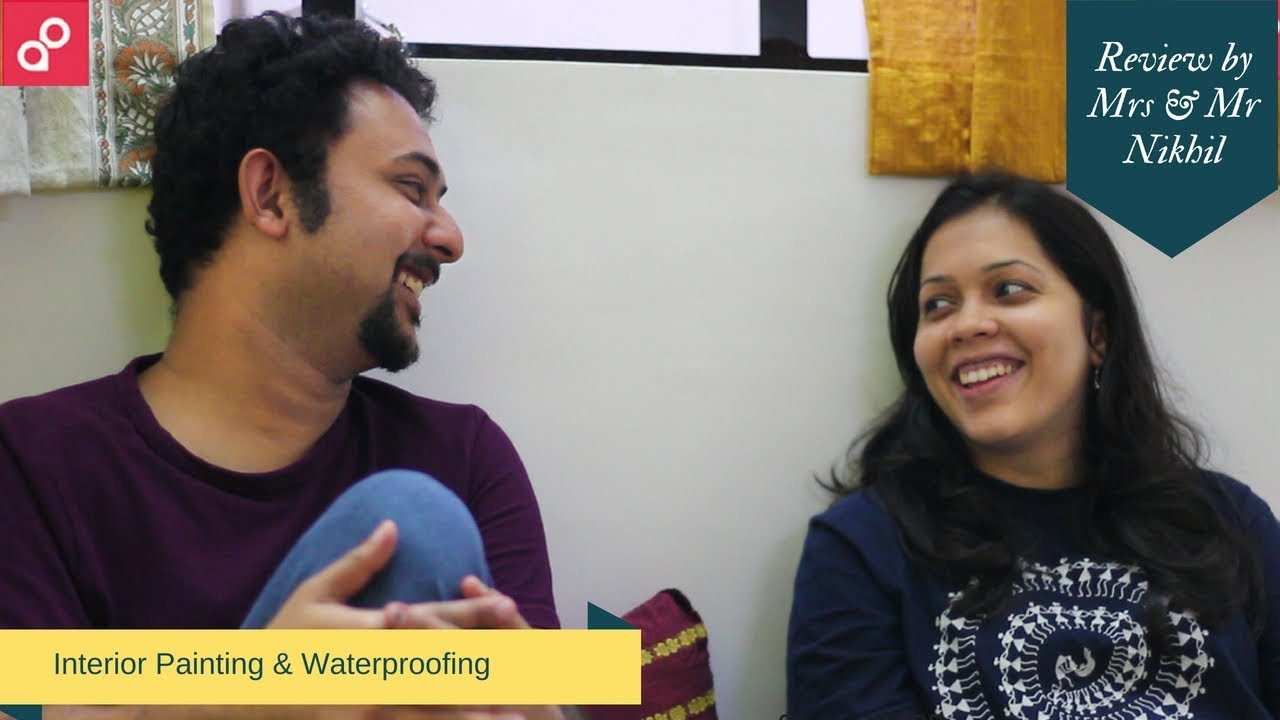 Video Interior Painting & Waterproofing AapkaPainter Review by Mrs & Mr Nikhil | AapkaPainte