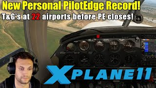 X-Plane 11 & PilotEdge - Personal Record Attempt: 21 Airports Before Shutdown!