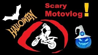 Scary HALLOWEEN Motovlog | Dark forest & crazy witch !?