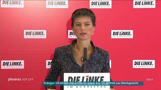 Statement von Sahra Wagenknecht zur Fraktionssitzung der Linken am 06.11.18