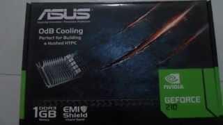 asus nvidia geforce 210 1gb graphics card review