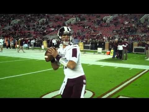 VIDEO: Tyler Russell warming up pregame at Alabama