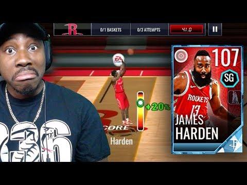 107 OVR JAMES HARDEN HALF-COURT SHOT CHALLENGE! NBA Live Mobile 18 Gameplay Pack Opening Ep. 71
