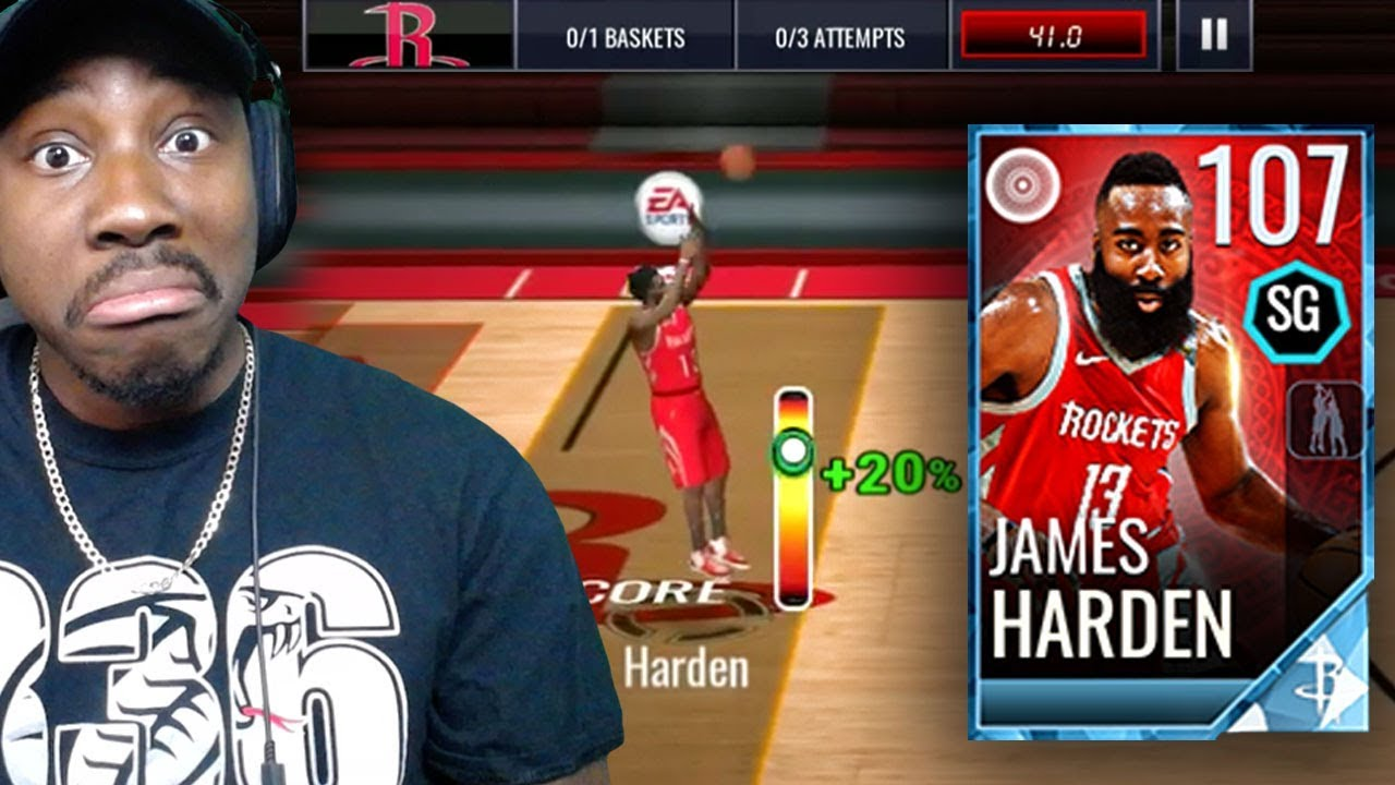 13f39f71ab8f 107 OVR JAMES HARDEN HALF-COURT SHOT CHALLENGE! NBA Live Mobile 18 Gameplay  Pack Opening Ep. 71