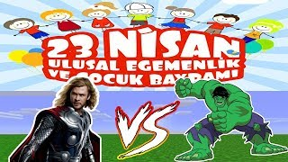 THOR VS HULK !?! Minecraft Lucky Wars VE 23 NİSAN