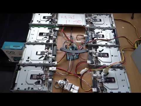 Golden Brown   The Stranglers   on 8 floppy drives
