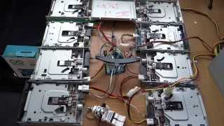 Golden Brown   The Stranglers   on 8 floppy drives