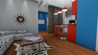 تصميم شقة 100 متر