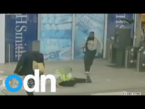Shocking CCTV: Man punches ticket inspector to the ground