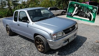 ข้างนอกเรียบๆ ห้องเครื่องอย่างโหด Toyota Tiger วางเครื่อง D-max จาก GM Service : รถซิ่งไทยแลนด์