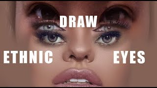 How to draw eyes of different ethnicities