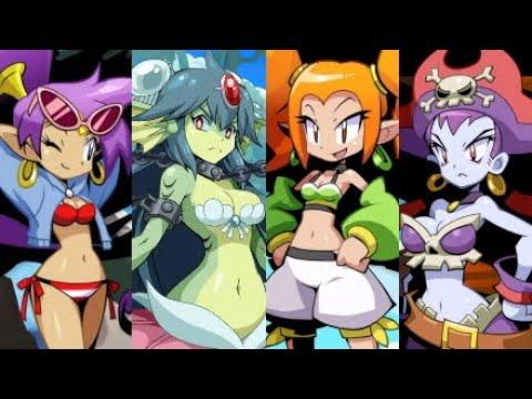 Shantae: Costume Pack - Swimsuit Shantae vs All Bosses with Cutscenes (No Damage)