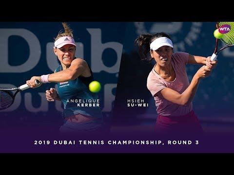 Angelique Kerber vs. Hsieh Su-wei   2019 Dubai Third Round   WTA Highlights