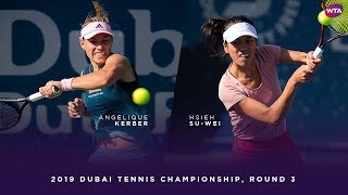 Angelique Kerber vs. Hsieh Su-wei | 2019 Dubai Third Round | WTA Highlights