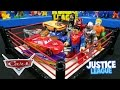 Disney Cars vs Justice League Toys Shake Rumble with Batman & Lightning McQueen | KID CITY