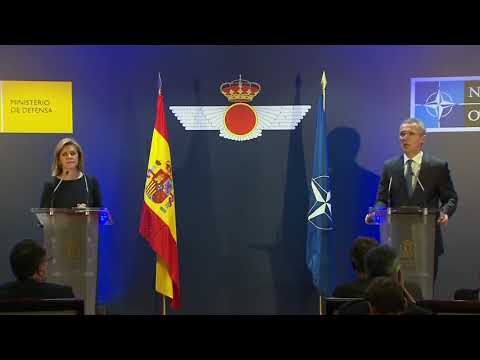 NATO Secretary General and Spanish Minister of Defense Give Press Conference