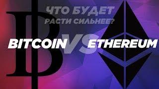 Bitcoin(BTC) vs Ethereum(ETH): что будет расти сильнее?
