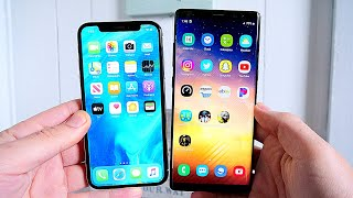 iPhone X vs Galaxy Note 8 Speed Test 3 Years Later!