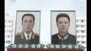 Mass rally in North Korea to celebrate Kim Jong-il re-election - no comment