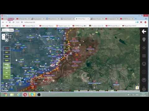 Обзор карты боевых действий на Донбассе от 17 мая 2017 г