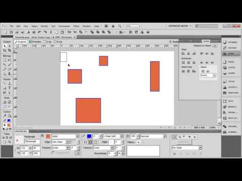 Tutorial: Adobe Fireworks CS5 for Beginners Lesson 4 - Aligning and Spacing Objects