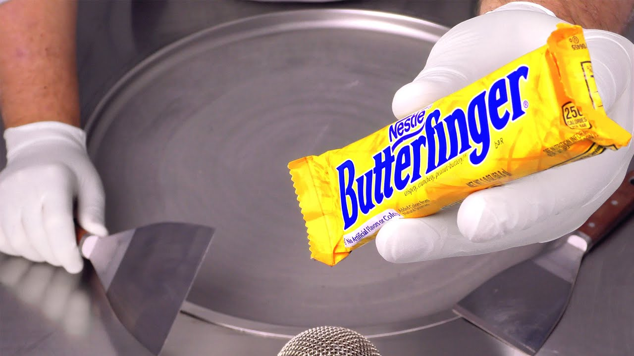 Butterfinger - Ice Cream Rolls | ASMR