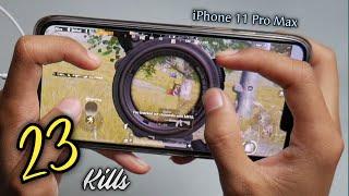 iPhone 11 Pro Max PUBG 4 Finger Full Gyro   Solo Vs Squad#1