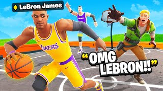 I Pretended To Be LeBron James.. (NBA Skins)