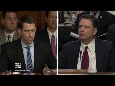 Sen. Cotton asks Comey whether he believes Trump colluded with Russia