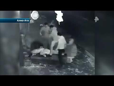 Жестокое избиение посетителей ночного клуба в Алма-Ате попало на видео