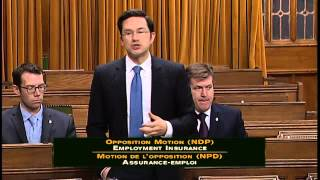 Hon. Pierre Poilievre speaks to NDP Opposition motion on Employment Insurance