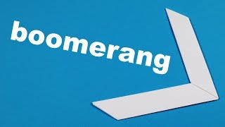 Easy Origami Boomerang. Paper Toys