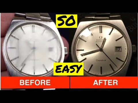 How To Remove / Repair  and POLISH Scratches From a Watch Crystal