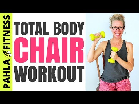 30 Minute CHAIR Workout | SEATED Athletic Total Body Knee-Friendly Routine with CARDIO + STRENGTH