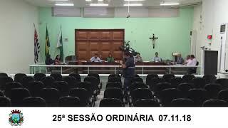 Sessão da Câmara  07.11.18