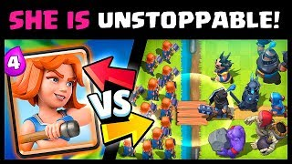 Counter with VALKYRIE like a PRO! - Clash Royale Strategy Highlights