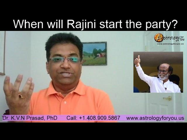 When will Rajinikanth start the Party