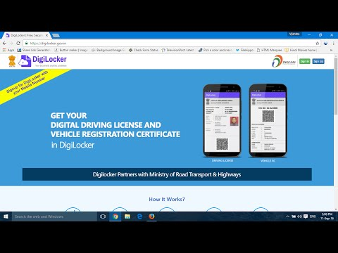 How to download digital driving liscence and RC online