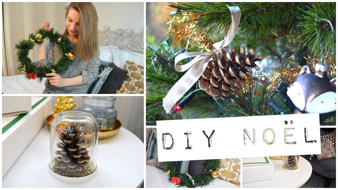 Diy deco no l couronne ornement de sapin et de table for Youtube decoration de noel