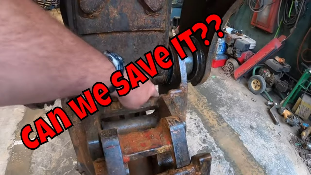 Trying save 10k by doing some DIY repairs on the 140 Volvo coupler in the shop with MBTS