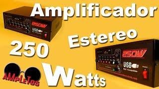 Amplificador estéreo de 250 watts