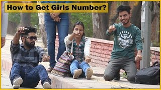 Getting Cute Girls Number in Funniest Way Prank - Ft. Sunny Aryaa | The HunGama Films