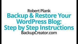 Backup & Restore Your WordPress Blog: Step by Step Instructions