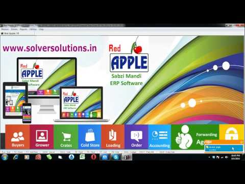 Red Apple : ERP Software For Fruits and Vegetable Commission Agents By www.solversolutions.in